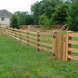 Split Rail Fence Installation Near Burlington Vt