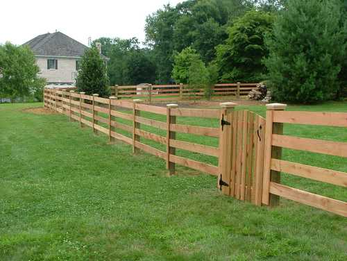 Split Rail Fence With Wire
