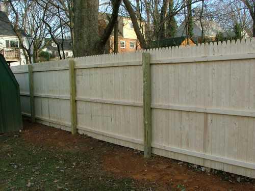 Stockade Privacy Fence Installation Near Burlington Vt