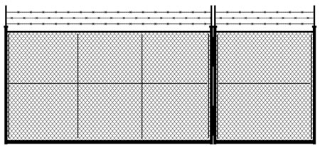 Security Chain Link Fence installation VT